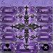 Purple Gothic Cross Dialer theme Icon