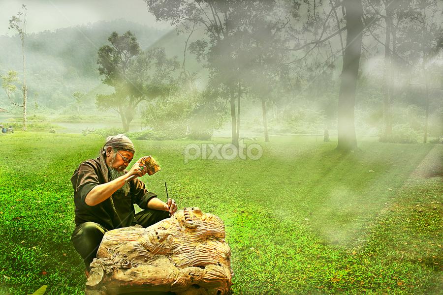 Mengukir by Ganang Sujarwo - Digital Art People