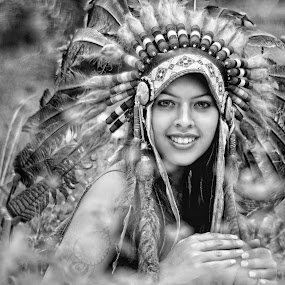 Apache girl by Amir  Rodof - People Portraits of Women