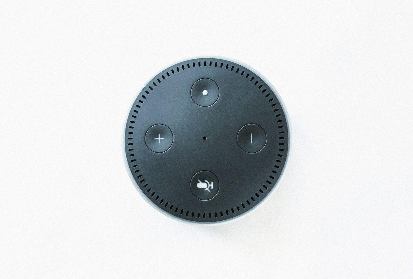 Amazon Echo speaker shot van bovenaf