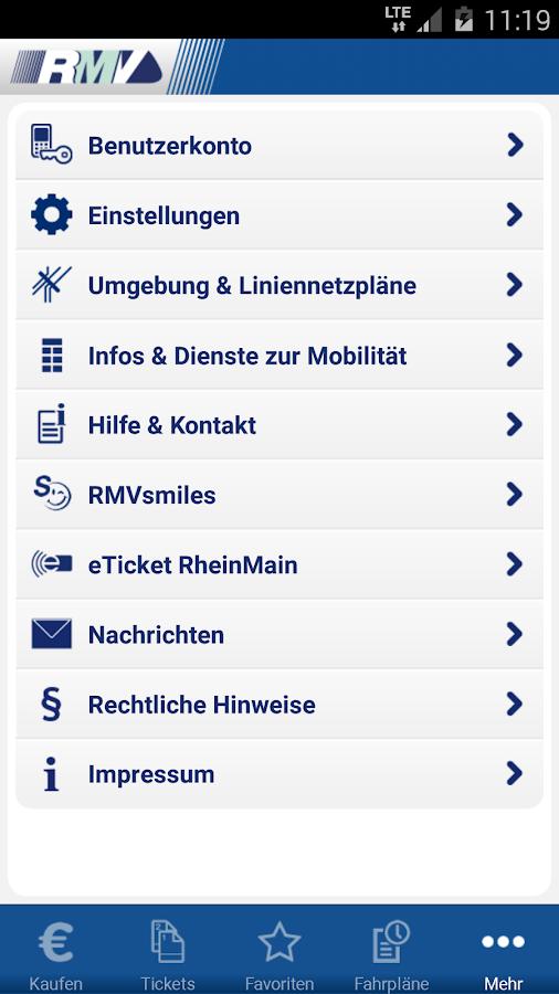 RMV Rhein-Main-Verkehrsverbund - screenshot