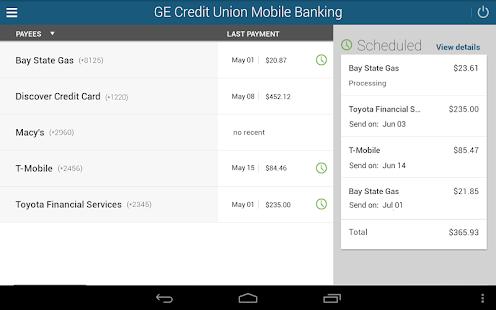GE Credit Union Mobile Banking- screenshot thumbnail