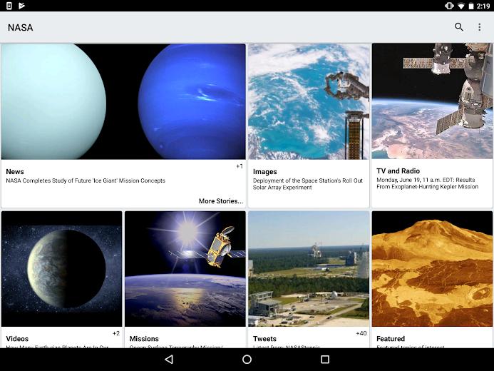 Screenshot 5 for NASA.gov's Android app'