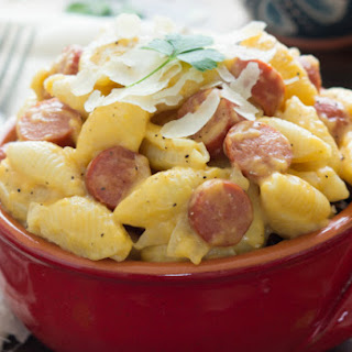 Summer-Style Hot Dog Mac and Cheese