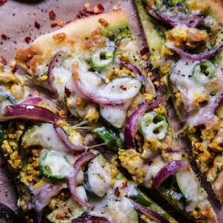 Indian Spiced Turkey Pizza.