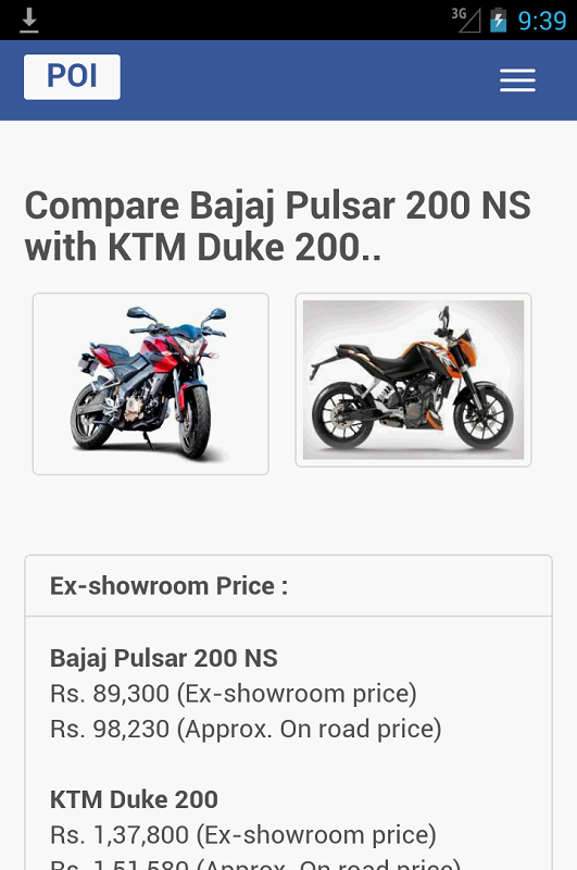 Compare Bikes In India India Bikes Price Specs