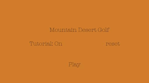 Desert Golf