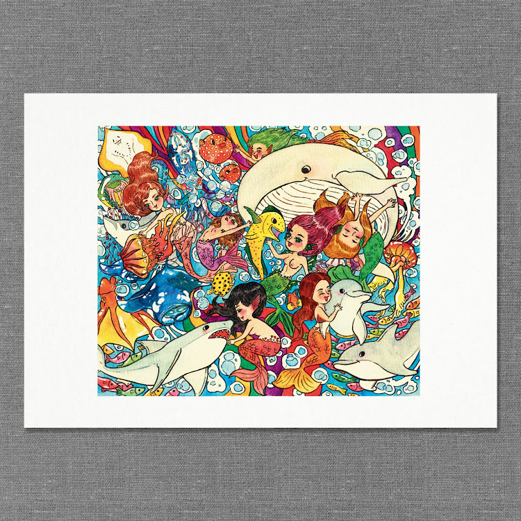 A3 Paper Print【The Mermaid School】 by Jeovine
