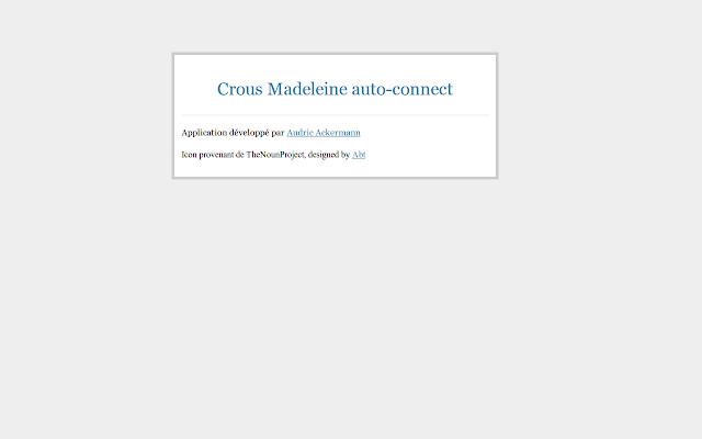 Crous Madeleine auto-connect
