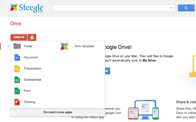 Create from template - Drive - Chrome Web Store