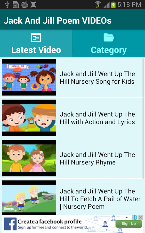 Jack And Jill Poem Videos Android Apps On Google Play