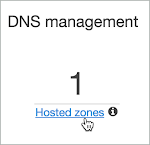Hosted zones option is selected