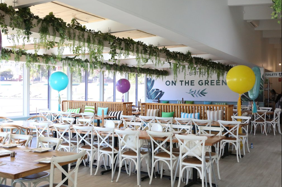 Family friendly space at On the Greens Bistro