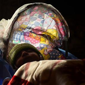 Baby Protecting by Sun Rays & Sleeping by Umair Nayab - Babies & Children Toddlers ( sleeping, day, shade, baby boy, sun rays,  )