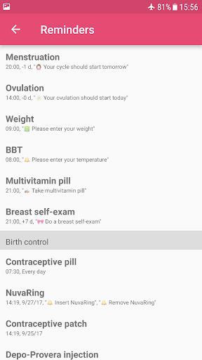 WomanLog Calendar  screenshots 8