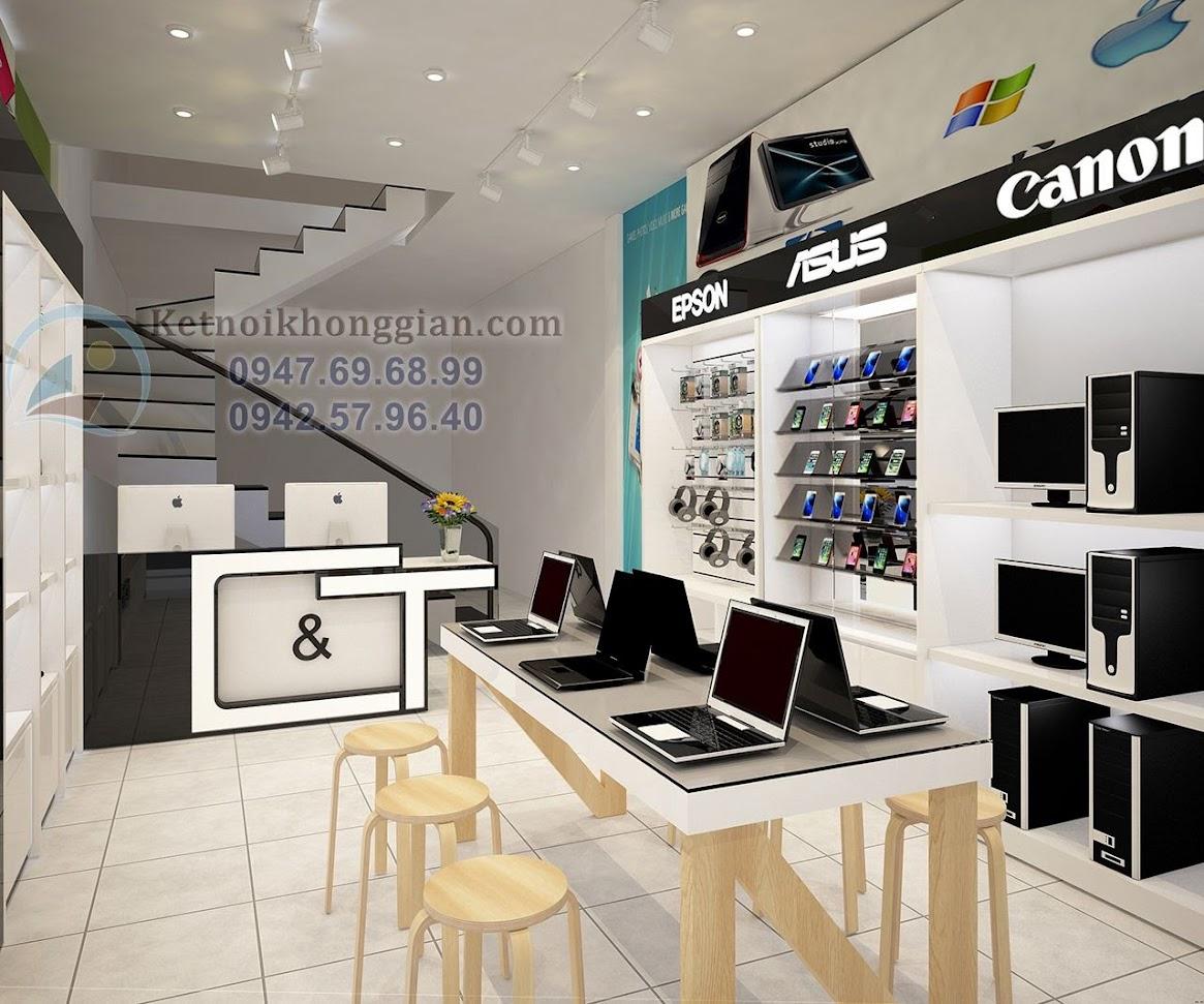 thiết kế shop máy tính sáng tạo