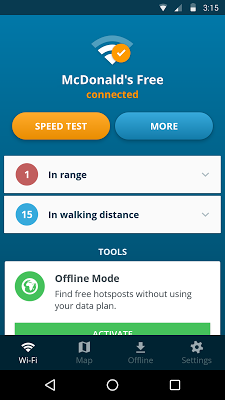 Avast Wi-Fi Finder - screenshot