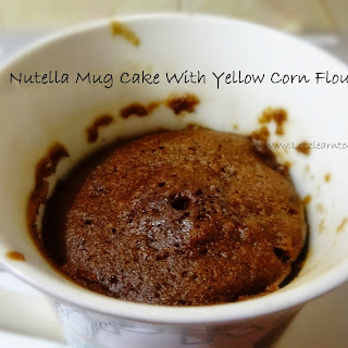 2 Min Microwave Eggless Nutella Mug Cake With Yellow Corn Flour