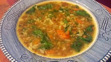 Vegan Lentil & Rice Soup