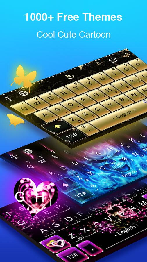 TouchPal Keyboard - Swype with animated themes- screenshot
