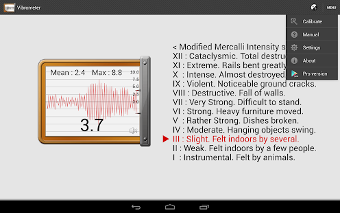 Vibration Meter - screenshot thumbnail