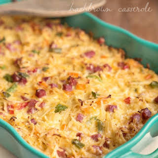 Ham and Cheese Hashbrown Breakfast Casserole.