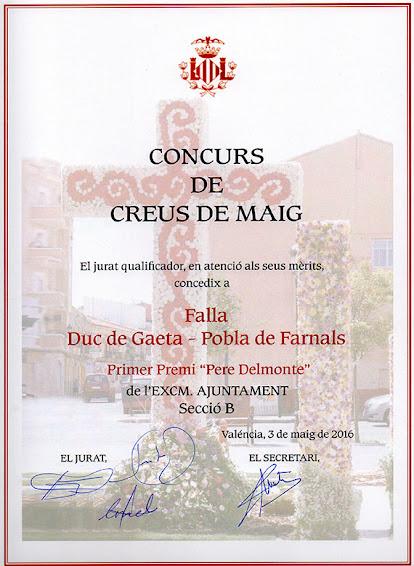 Recibimos el Primer Premio de Cruces de Mayo