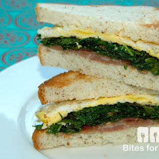 Fried Egg Kale and Prosciutto Sandwich