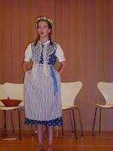 Photo: Die Solojodlerin Nadine Studer  12 jährig mit tollen Vorträgen. Ein zukunftsträchtig Jodlerin