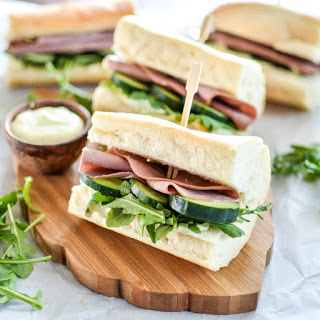 Roast Beef Sandwiches with Horseradish Mustard