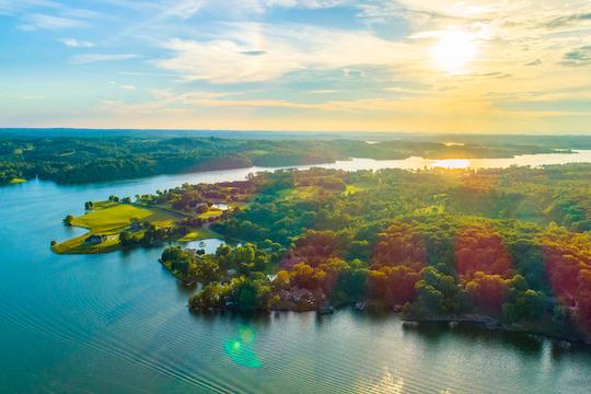 Aerial view of Four Loudon Lake