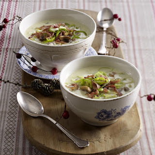 Leek and Mushroom Soup.