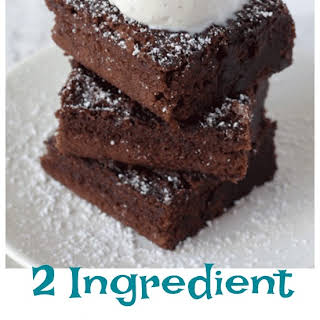 2 Ingredient Brownies.