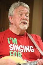 Photo: John Edwards sings for Wales