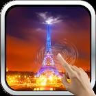 Night In Paris. Eiffel Tower. icon