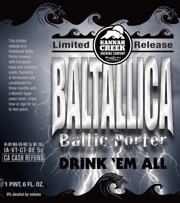 Logo of Kannah Creek Brewing Company Baltallica Baltic Porter