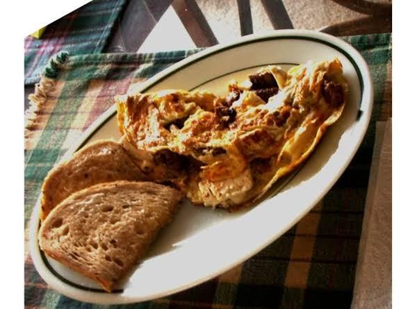 Fajita Steak/feta Cheese Omelet Recipe