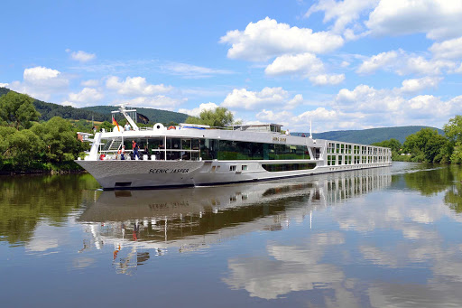 Scenic Jasper sailing on the Danube River.