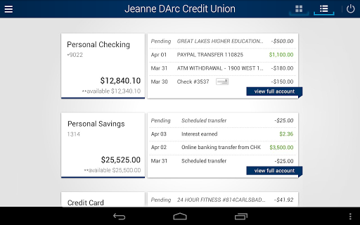 Jeanne D'Arc Mobile Banking screenshot 5
