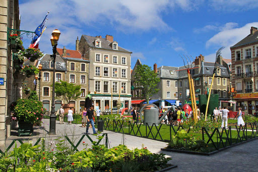Giant garden in Place Godefroy-de-Bouillon, Boulogne, France.