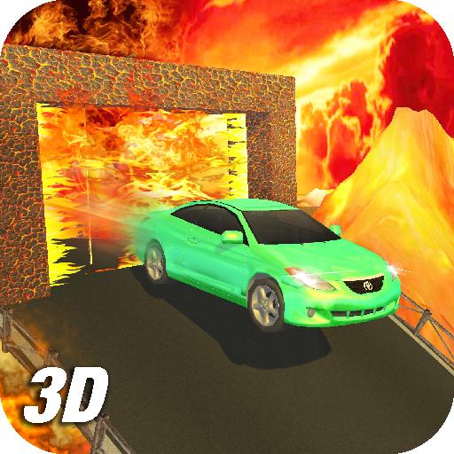 Lava Wall Driving Car 3D
