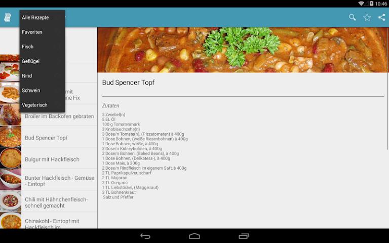 android Einfache & Schnelle Rezepte Screenshot 6