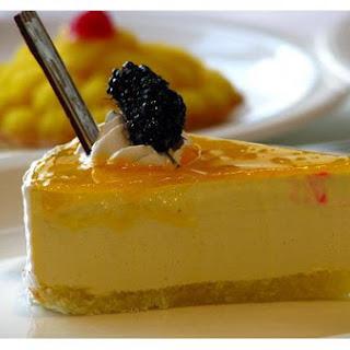 Indian Mango Cheese Cake.