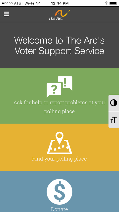 Voter Support Service- screenshot