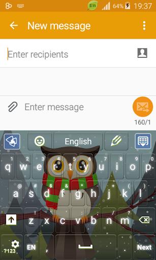 Winter Owl Keyboard