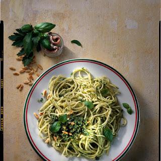 Spaghetti with Italian Salsa Verde