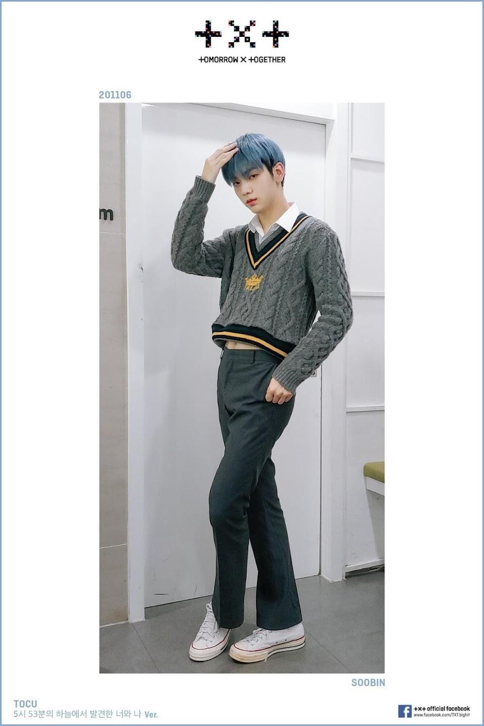 txt soobin crop top sweater