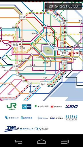 東京遅延路線網