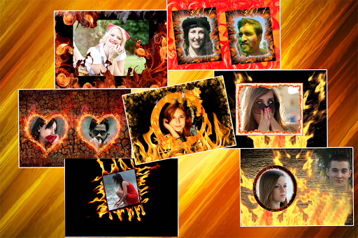 Fire Photo Effects Frames