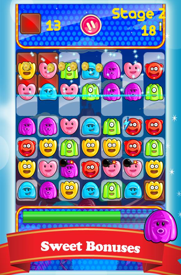 Скриншот Сладкие Желе 3 в Ряд
